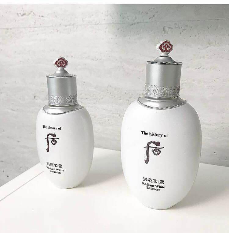 Bộ đôi dưỡng trắng da WhooGongjinhyang Seol Radiant White