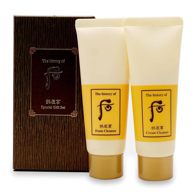 Bộ sữa rửa mặt và tẩy trang] Whoo Gongjinhyang Cleanser Special Gift Set.