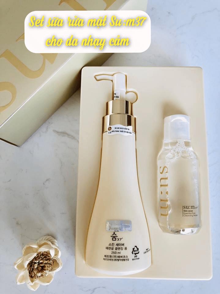 Su:m37 Skin Saver Cleansing Special là set làm sạch và tẩy tế bào chết cho da.