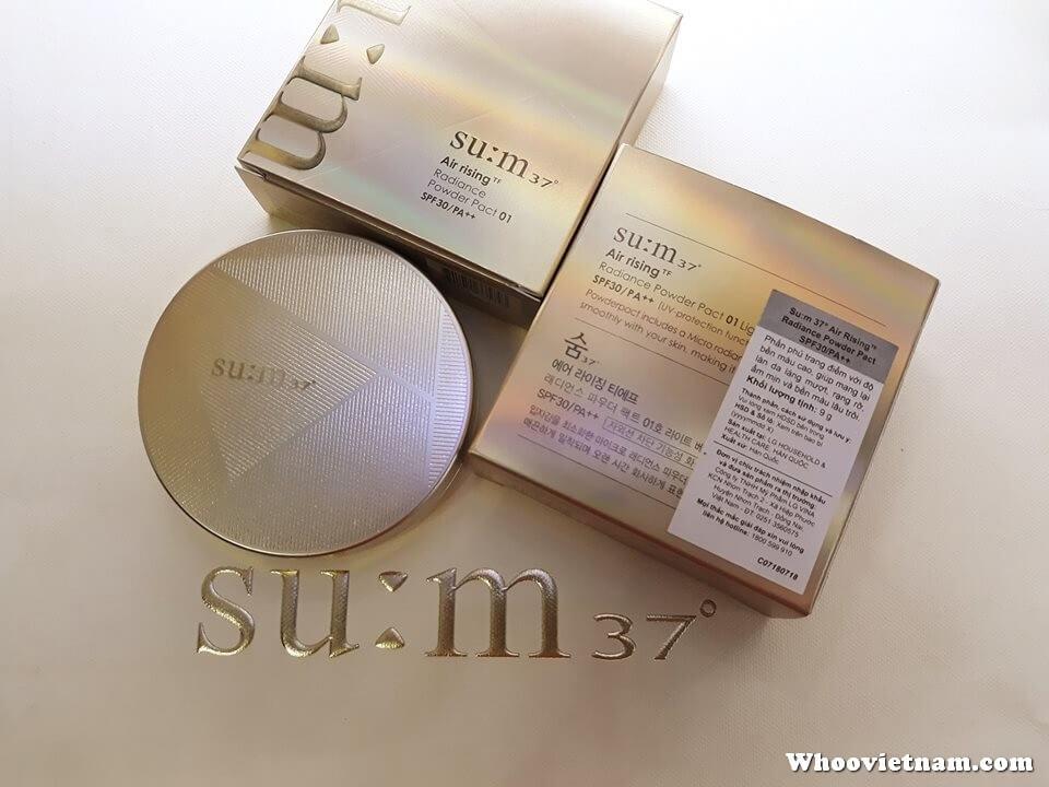 Phấn thảo dược Su:m37Radiance Powder Pact SPF30/PA++ siêu mịn và an toàn