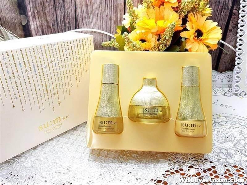 Set dưỡng tái sinh Sum vàng mini 3 sản phẩm