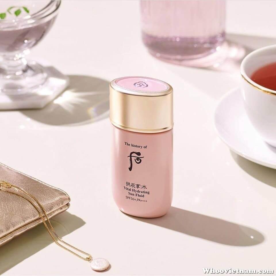 Sữa chống nắngdưỡng da trắng mịnWhoo Vital Hydrating Sun Fluid SPF50+ PA+++